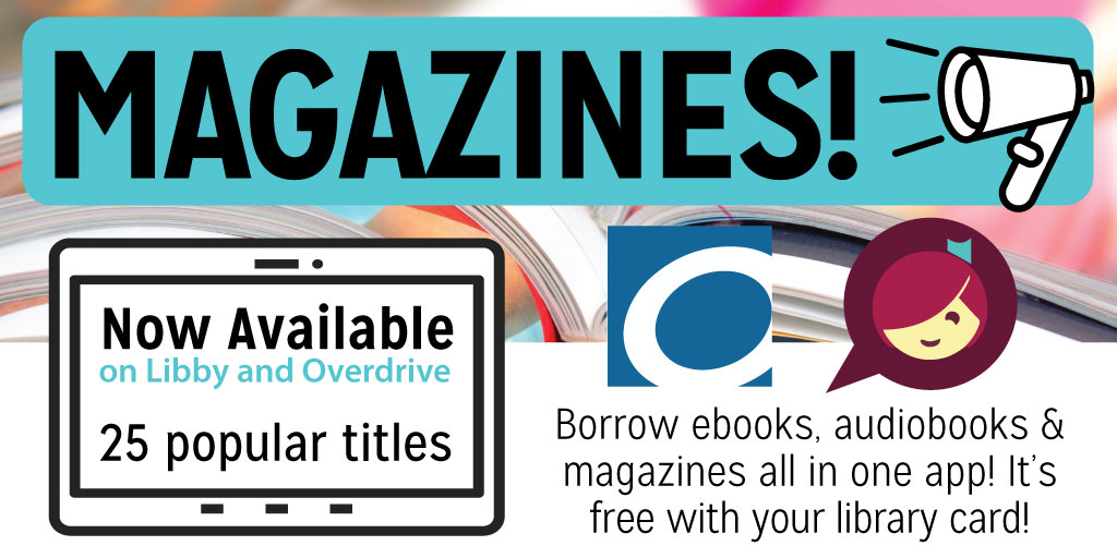 Magazines are now available through the Oklahoma Virtual Library.